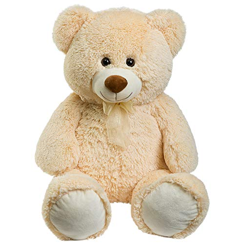 (HollyHOME Teddy Bear Plush Giant Teddy Bears Stuffed Animals Teddy Bear Love 36 inch Beige)