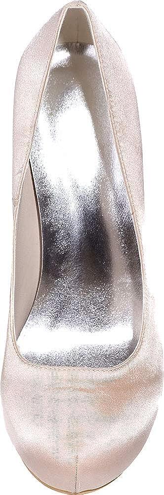 CFP ,  Damen Durchgängies Plateau Sandalen, Grau - champagnerfarben champagnerfarben champagnerfarben - Größe  EU 38  659a63