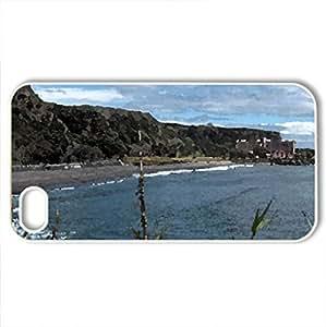Agua de Alto beach - Case Cover for iPhone 4 and 4s (Beaches Series, Watercolor style, White)