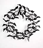 Wind & Weather Metal Halloween Wreath Bats - 29 Dia. x 5 D