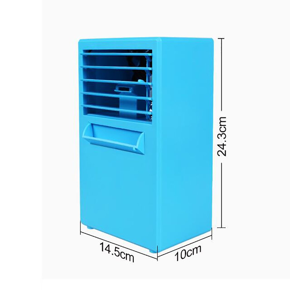 JiaQi Mini Air Conditioning,Desktop Air Conditioner,Humidifier Personal Space Cooler Usb Outdoor Camping Office-White 14.5x10x25cm(6x4x10inch) by JiaQi (Image #8)