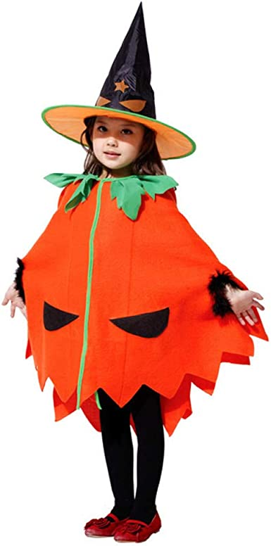 SHOPZZ Disfraz De Halloween Niños Niñas Disfraz De Calabaza Bruja ...