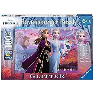 Ravensburger 12868 Disney Frozen 2 – Strong Sisters – 100 Piece Jigsaw Puzzle with Glitter for Kids – Every Piece is…