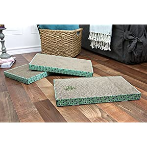 Kitty City XL Wide Corrugate Scratchers, 3 Piece(Longer Lasting Cardboard)
