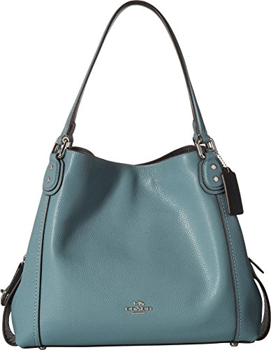 COACH Women's Pebbled Leather Edie 31 Shoulder Bag Sv/Marine One Size by Coach