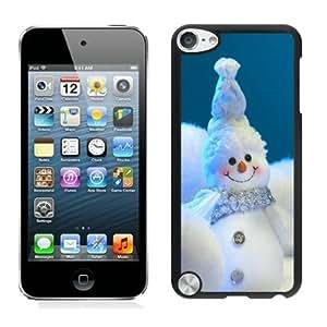 2014 New Style Happy little snowmen christmas snowman Black iPod Touch 5 Case 1