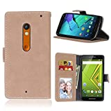 """Motorola Moto X Play(5.5"""")case,X Play(2015)case,Bujing Mihuang Pattern,Premium Nubuck Synthetic Leather+Soft TPU Card Slot Stand Wallet Case Only For Motorola Moto X Play(5.5"""")(2015)"""