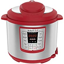 Instant Pot Lux 6 Qt Red 6-in-1 Muti-Use Programmable Pressure Cooker, Slow Cooker, Rice Cooker, Sauté, Steamer, and Warmer