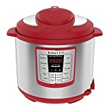 Kitchen & Housewares : Instant Pot Lux 6 Qt Red 6-in-1 Muti-Use Programmable Pressure Cooker, Slow Cooker, Rice Cooker, Sauté, Steamer, and Warmer
