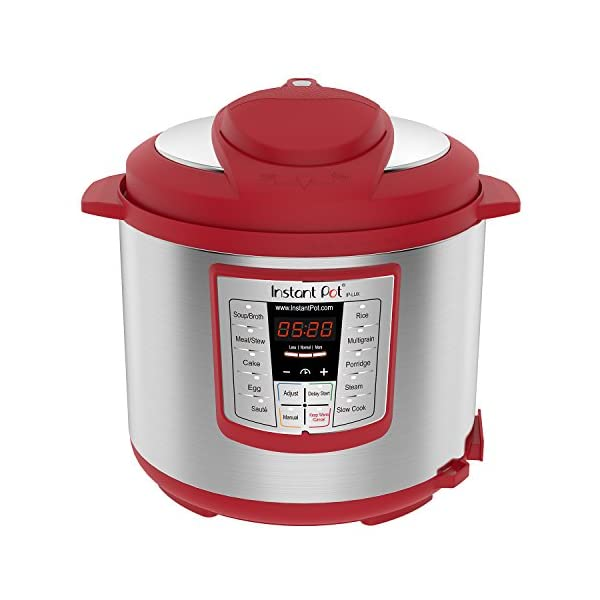 Instant Pot Lux 6-in-1 Electric Pressure Cooker, Slow Cooker, Rice Cooker, Steamer, Saute, and Warmer|6 Quart|Red|12 One… 1