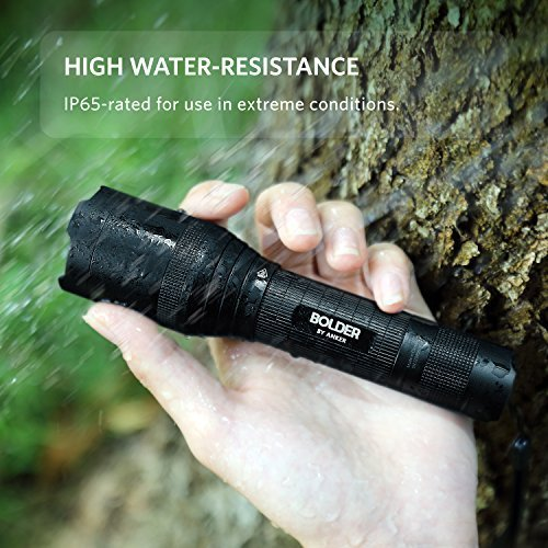 Anker AK-T1420011 Super Bright Tactical Flashlight, Rechargeable (18650 Battery Included), Zoomable IP65 Water-Resistant, 900 Lumens CREE LED, 5 Light Modes for Camping and Hiking, Bolder LC90 by Anker (Image #3)