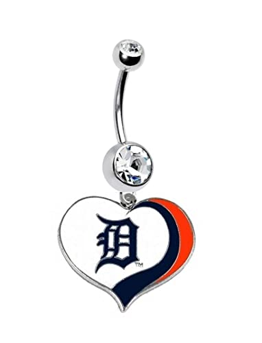 Amazon Com Detroit Tigers Baseball Team Navel Belly Button Ring