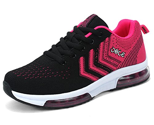 7 Red D Flyknit Shock US Anti Men Trianer Running M Lightweight Casual Vamp For Sports 5 Black Shoes wZ7qxO