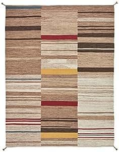 Stone & Beam Modern Gabbeh Inspired Wool Rug, 8' x 10', Sand Multi