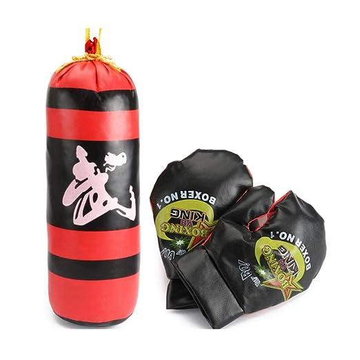 Volwco - Juego de Saco de Boxeo para niños (Incluye 1 par de ...