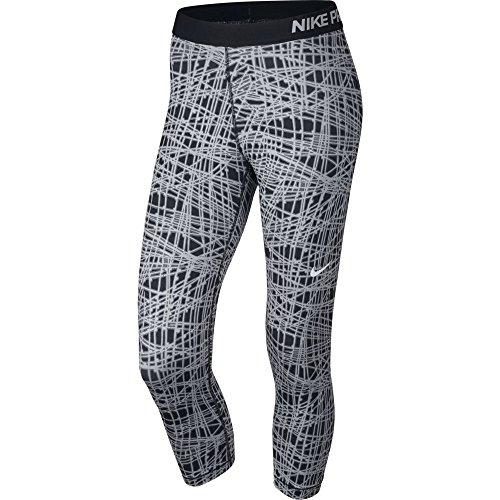 Nike Womens Pro Tracer Capri Black/White/Wolf Grey sz X-Small