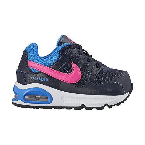 Nike Unisex Baby Air Max Command (TD) Krabbelschuhe, Grau, 23.5 EU Schwarz / Rosa / Blau (Obsidian / Pink Pow-Foto Blue)