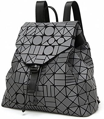 New Laser Matte Geometric Bao Bao Women Backpack Bags Women Fashion School  Bag Folding Girl Shoulder. Loading Images... Back. Double-tap to zoom b1d1448696761