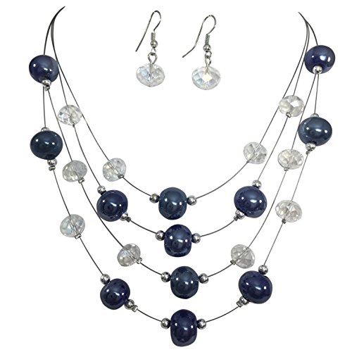 Multi (Blue Pearl Costume Jewelry)