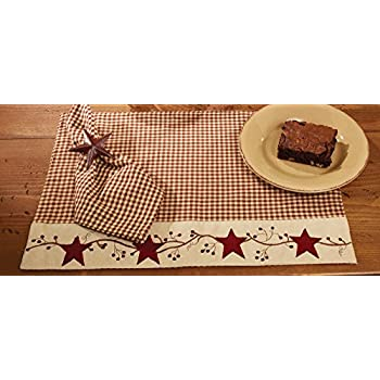 Star braided table mat burgundy country decor for Decor star 005 ss