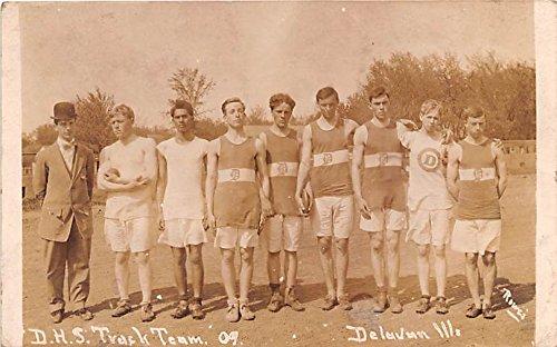 (DHS Track Team 1909 Delavan, Illinois postcard )