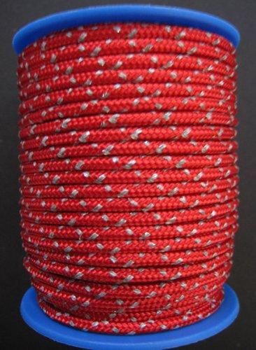 Gepolight Flechtleine/Flechtschnur/Seil stark reflektierend 3mm-20meter rot Gepotex