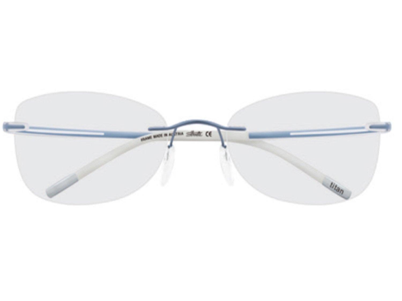 Silhouette Titanium Eyeglasses SPX ART + PLUS (4390-6214 ice blue silk 52mm-17mm-140mm, one size)