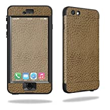 MightySkins Protective Vinyl Skin Decal for Lifeproof Nuud iPhone 6/6S Case wrap cover sticker skins Sandlwood Leather