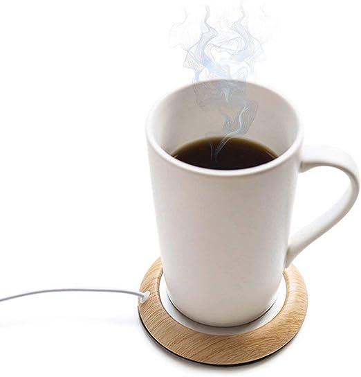 Black USB Calentador de tazas Calentador de Taza de caf/é para Oficina en el hogar Escritorio calentado caf/é Taza de t/é Pad