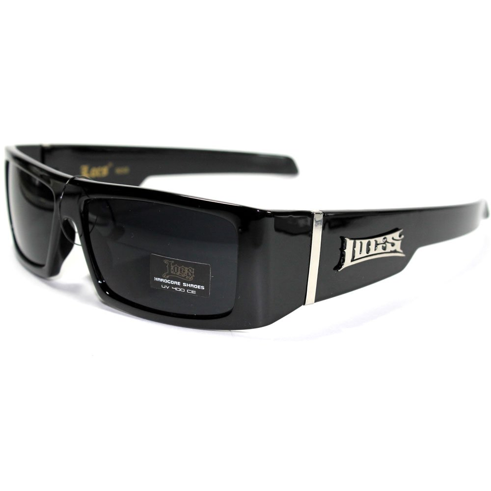 LC25 Black Mens Sunglasses Locs Gangster Free Pouch