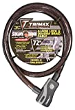 Trimax TAL2572 6' x 25 mm Alarm Lock and Quadra-Braid Cable