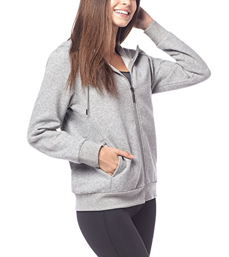 Lapasa Women's Jersey Full Zip Hoodie L14 (S, Heather Grey)