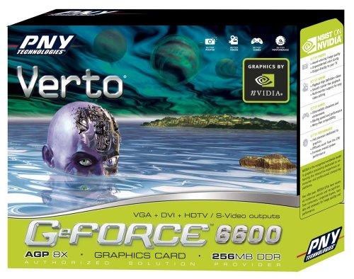 PNY Verto NVIDIA GeForce 6600 AGP 8X 256 MB DDR Graphics Card ( VCG66256APB )