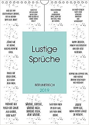 Berlinerisch Lustige Sprüche Wandkalender 2019 Din A4 Hoch