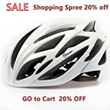 Crazy Mars Baseca Elastic Ultralight Stable Road/Mountain Bike Cycling Helmets Mens Womens-White