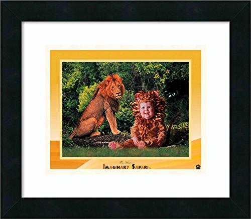 Framed Art Print 'Imaginary Safari - Lion' by Tom Arma (Tom Arma Lion Costume)