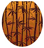 Toilet Tattoos TT-1033-R Bronzed Bamboo Design Toilet Seat Applique, Round