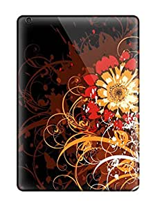 Snap-on Vector Flowers Cases Covers Skin Compatible With Ipad Air