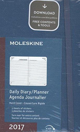 Moleskine DHB2112DC2Y17 - Agenta diaria 12 meses, pocket 9 x 14, color azul: 1 TAG=1 SEITE