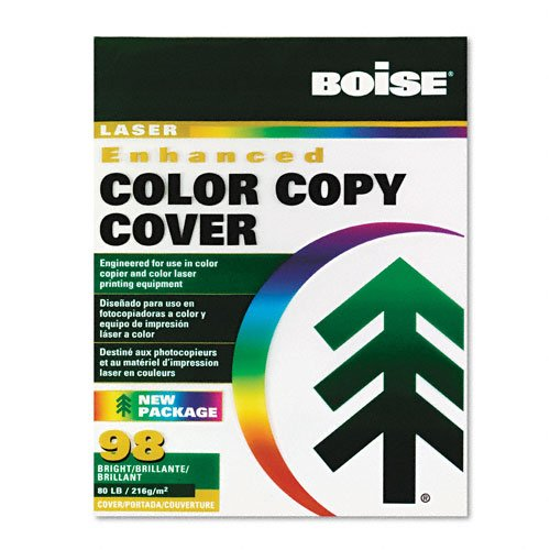 Boise : Enhanced Color Copy Cover, 80lb, White, 98 Brightness, Letter, 250 Sheets -:- Sold as 2 Packs of - 250 - / - Total of 500 -