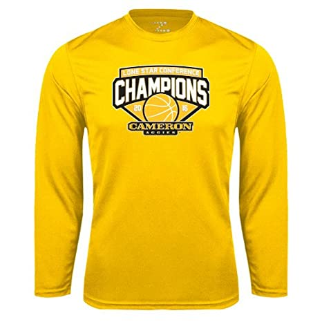 3034a05705 Cameron Performance Gold Longsleeve Shirt 'Lone Star Conference Basketball  Champs' - Small