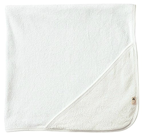 Burt's Bees Baby - Infant Single Ply Hooded Towel, 100% Organic Cotton (Cloud) (Single Baby)