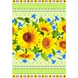 SAV Embroidered Ukrainian Print Kitchen Dish Towels Set Vintage Design Decor Easter Pack Super Absorbent 100% Natural Cotton Waffle Wave (Size: 29 x 14 inches) (Pack of 2, Big Sunflower)