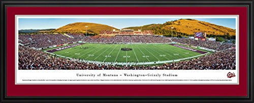 Montana Football - Blakeway Panoramas College Sports Posters with Deluxe Frame (Montana Football)
