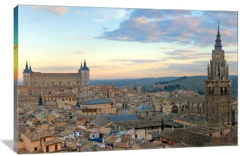 Toledo, Spain Skyline 30'' x 20'' Gallery Wrapped Canvas Wall Art by ArtsyCanvas