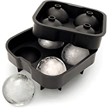 iGadgitz Home Silicone Ice Ball Mould Food Grade 4x4.5cm Sphere Ice Rounds Ball Maker for Cocktail, Whiskey, Liquor & Other Drink - Pack of 1