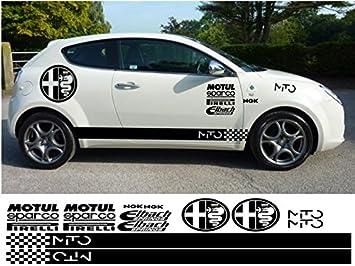 Alfa Stickers >> Alfa Romeo Mito Kit 16pc Graphic Decal Stickers Gunmetal Amazon