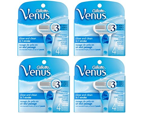 Gillette Venus Women's Original 3 Blade Razor Refills, 16 Count-USA- Free Gift Included