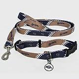 Milwaukee Brewers Pet Set Dog Leash Collar ID Tag SMALL