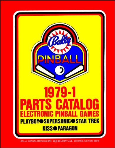 (1979-1 Bally Pinball Machine Coin-Op Game Parts Manual Catalog)